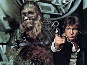 Han Solo ve Chewbacca (Harrison Ford - Peter Mayhew)