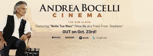 """Andrea Bocelli'den Yeni Albüm: """"Cinema"""""""